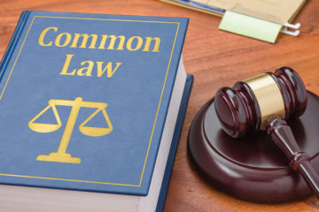 Law book with a gavel - Common law
